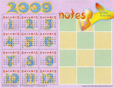TimeAhead Calendar: For Kids, the Future of Our World; January 2009 - December 2009 (#06)