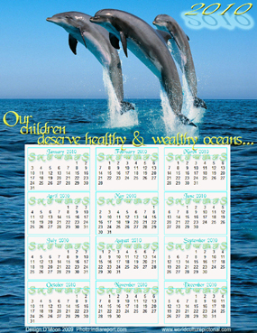 ThinkAhead™ Calendar January 2010 - December 2010 (Ocean): Our children deserve healthy and wealthy oceans