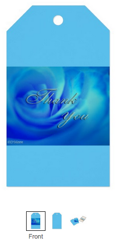 """Blue Rose """"Thank You"""" Gift Tags"""