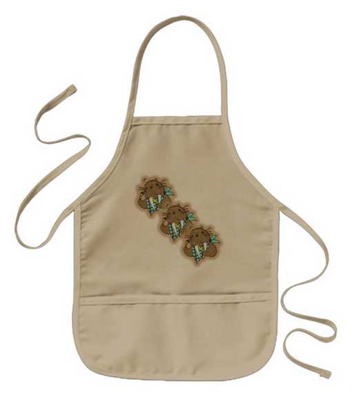 Cartoon Walrus Kids' Apron