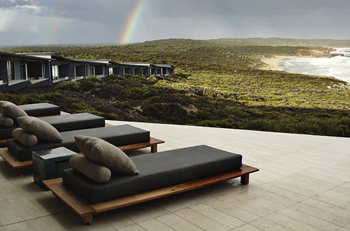 known as Australia's Galapagos, K.I., as the locals call it, is home to kangaroos, wallabies, bandicoots and the fabulous Southern Ocean Lodge, built on 252 acres of virgin bushland