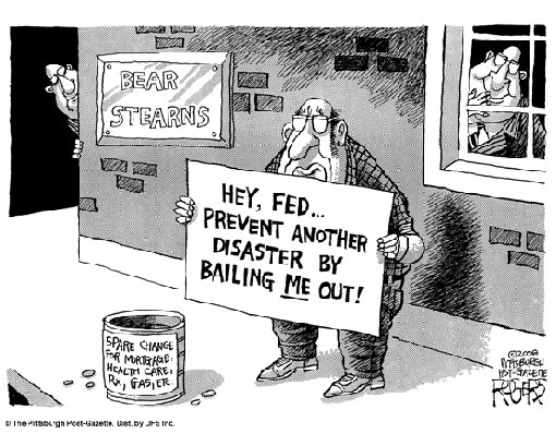 Hey, Fed, prevent another disaster, bail ME out!