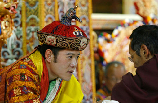 Bhutan's King Jigme Khesar Namgyel Wangchuck during his coronation