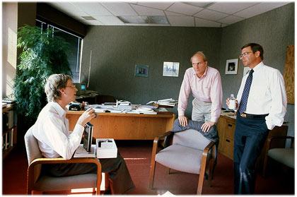 Gates with Steve Ballmer and Jon Shirley