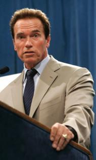 California State Governor Arnold Schwarzenegger, a Republican