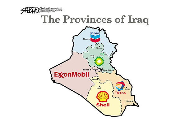 Cartoon: provinces of Iraq