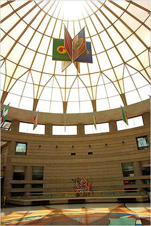 domed lobby of the Charles H. Wright Museum of African American History in Detroit. For most museums, passivity is no longer an option. Nest eggs disintegrate; benefactors die or look elsewhere; people forget that museums are there and what they're for. Reality issues an order: do or die