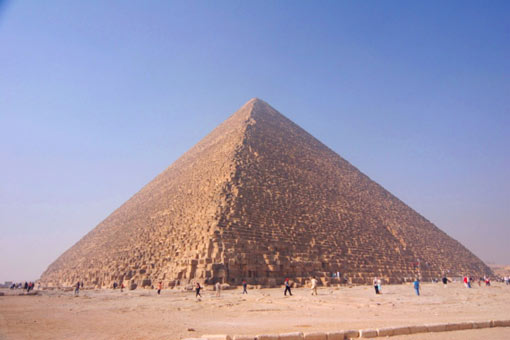 Cheops Pyramid – Egypt, finished in 2,600 BC (481 ft - 146 m)