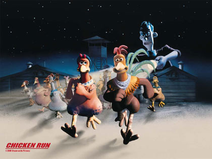 Chicken Run the movie, from Aardman