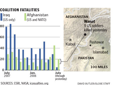 Afghanistan foreign troop deaths in May & June exceed those in Iraq