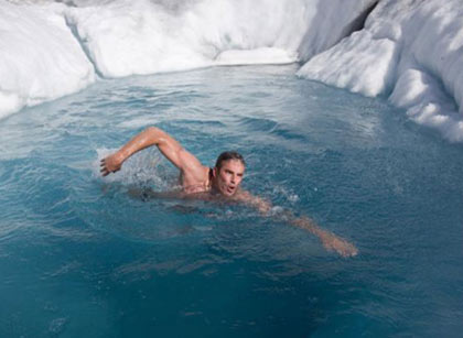 British explorer and endurance swimmer Lewis Gordon Pugh is attempting the challenge of a lifetime - to become the first ever person to swim at the Geographic North Pole in freezing temperatures of minus 1.8 degrees Celsius - the coldest waters a human has ever swum in