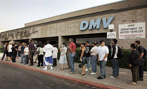 Gov. Arnold Schwarzenegger signed an order Thursday eliminating thousands of part-time state jobs; the DMV is one of several agencies expected to be affected by the cuts