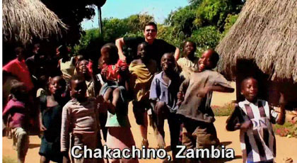 dancing in Chakachino, Zambia