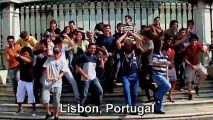 dancing in Lisbon, Portugal