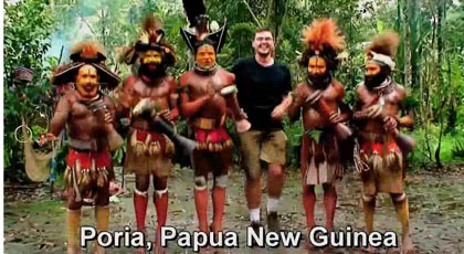 dancing in Poria, Papua New Guinea
