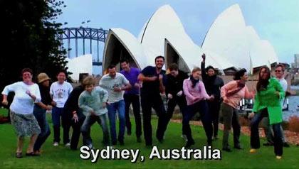 dancing in Sydney, Australia