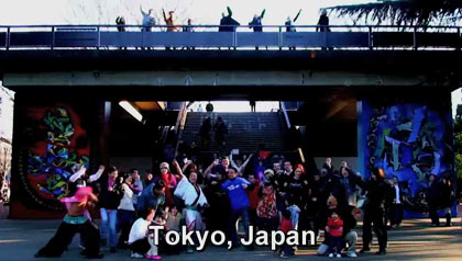 dancing in Tokyo, Japan