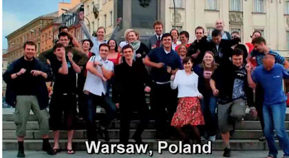 dancing in Warsaw, Poland