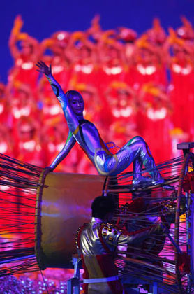 dancer performs during the Closing Ceremony for the Beijing 2008 Olympic Games