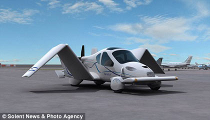 ease: pilots will be able to drive to the local airport, take off and then fly for up to 460 miles (740 km)