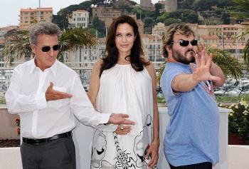 Dustin Hoffman, Angelina Jolie and Jack Black at the Cannes Film Festival