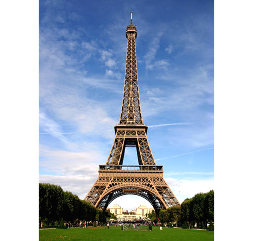 Eiffel Tower, France, completed in 1887 (1,063 ft - 324 m)