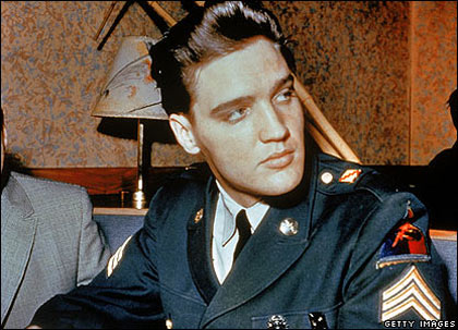 Despite being a worldwide star, Elvis was called up to do military service. He was drafted in 1958 for two years and sent to Germany, where he rose to the rank of sergeant