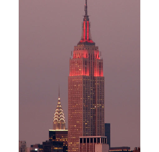 Empire State Building, United States, completed in 1931 (1,472 ft - 449 m)