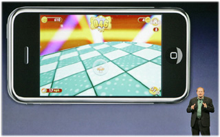 Ethan Einhorn of Sega introduces new video game capability for Apple iPhone