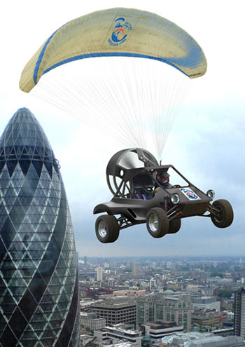 Gilo Cardozo's flying car