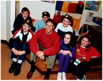 Gates has taken a greater interest in kids since having his own
