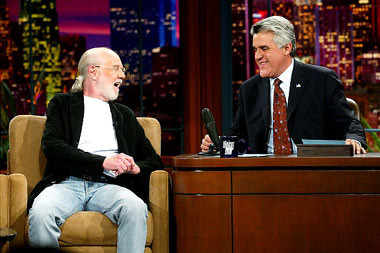 Carlin on the Tonight Show with Jay Leno in 2003, a show he appeared on many times, even filling in for Johnny Carson as guest host in the 80s