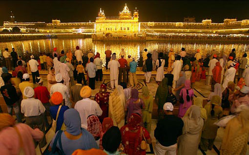 Diwali celebration at the Golden Temple in Amritsar, India.