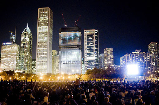 Chicago basks in the excitement of Obama's win