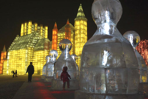 the opening of the Harbin Ice and Snow Festival