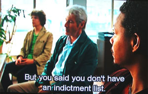 But you said you don't have an indictment list