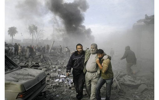 Israel continues its attacks in the Gaza Strip, like here, in Rafah near the Egyptian border