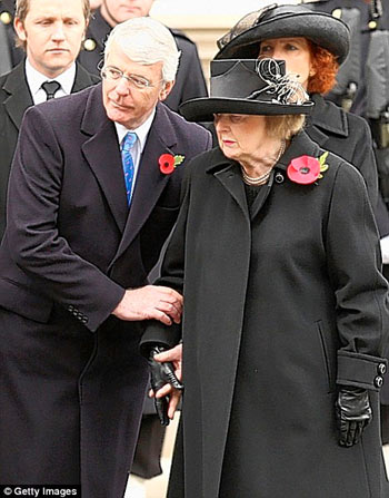 John Major with Lady Thatcher