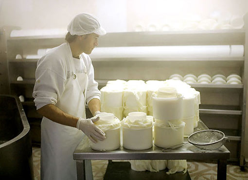 José Manuel Etxberria, who lives near San Sebastián, makes his Itxas Egi, a cheese variety from the Basque country