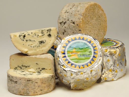 blue cheese from the remote area of Asturias in the north of Spain. Wedged between the ocean and the mountains, made from cow's milk, this small format blue has a full-bodied taste