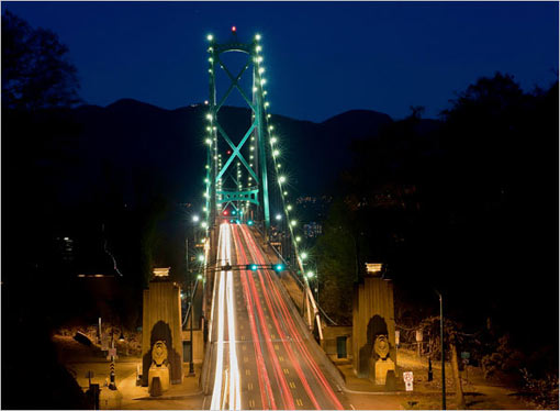 By design, there are no freeways through the city. Those who want to head north to Whistler, where the Olympic skiing events will be held, can use the Lions Gate bridge, which spans the first narrows of the Burrard Inlet