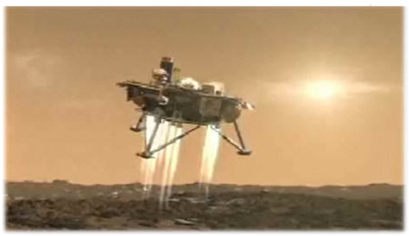 Extreme Mars challenge: Entry, descent and landing