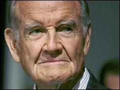 former Democratic presidential candidate George McGovern