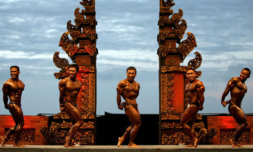 Inaugural 2008 Asian Beach Games in Bali, Indonesia promote sports ...