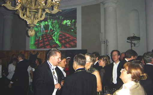 The Nobel Laureates and their guests, members of the Swedish Royal family, the Nobel Foundation and the Swedish Academy celebrated at the Nobel NightCap party at the Stockholm School of Economics after the prize giving ceremony and banquet at Stockholm Town Hall