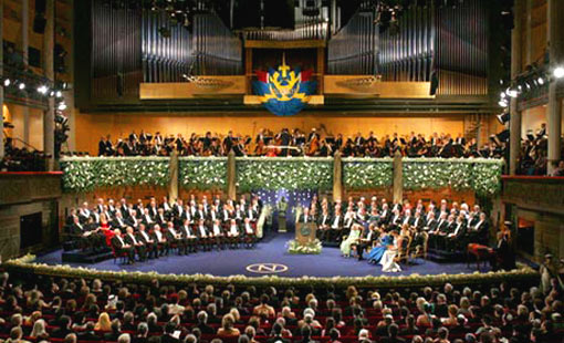 In the Swedish capital of Stockholm, December 10 means Nobel Day. For the prizewinners this is the high point of a week of speeches, conferences and receptions. Years of hard work are rewarded with a medal from the Swedish king, followed by a gala banquet.