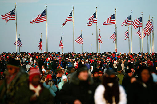 En Masse: people gather on the National Mall for the Inauguration of Barack Obama