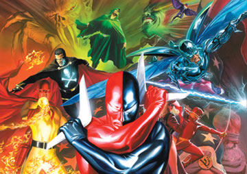 Project Superpowers, featured at Wizard World Chicago, is a new comics publication by Glenview artist Alex Ross and writer Jim Krueger that brings back a bevy of vintage superheroes from the 1940s