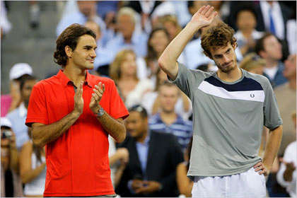 Roger Feder and Andy Murray after the final