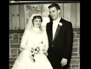 young Ron Paul and bride